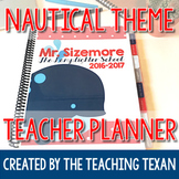 EDITABLE Nautical Theme Teacher Planner 2019-2020
