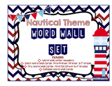 EDITABLE Nautical Theme Word Wall Set