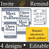 EDITABLE [Navy] Invitation & Reminder Flyers for Meet the