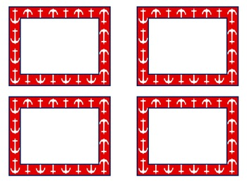 EDITABLE Navy & Red Nautical Multipurpose Labels! Three Sizes, Nine Designs!