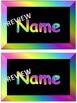 EDITABLE Neon Locker Tags Black and Bright Back to School