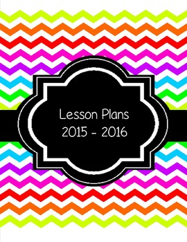 EDITABLE - Neon Plan book and More - 2015-2016 School Year