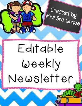 EDITABLE Newsletter