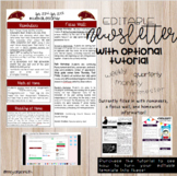 EDITABLE Newsletter Template!