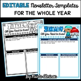 EDITABLE Newsletter Templates FOR THE WHOLE YEAR