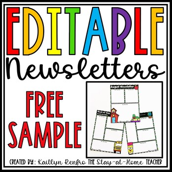 Free Newsletter Template Worksheets Teaching Resources Tpt
