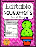 EDITABLE Newsletters in Cactus Theme