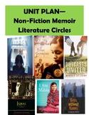 EDITABLE Non Fiction Memoir Literature Circles UNIT PLAN