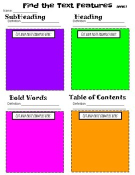 EDITABLE Nonfiction Text Features Scavenger Hunt- Digital and Paper