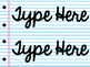 EDITABLE Notebook Paper Name tags