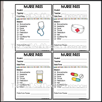 EDITABLE Nurse Passes