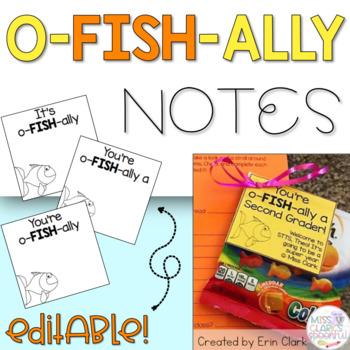 "EDITABLE ""O-FISH-ALLY"" Notes {FREE}"