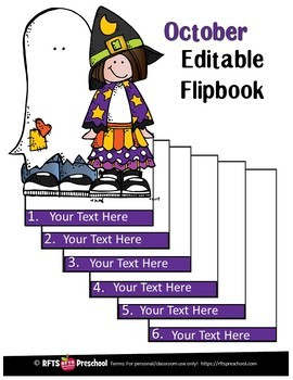 EDITABLE OCTOBER -FLIP BOOKS - MONTHLY NEWSLETTERS - CALENDARS  - TO-DO-LISTS