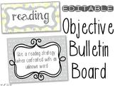 EDITABLE Objectives Bulletin Board