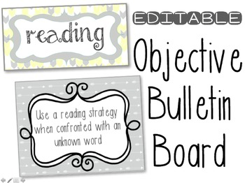 Objectives Bulletin Board Teaching Resources | Teachers Pay Teachers