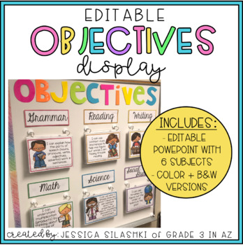 EDITABLE Objectives Display