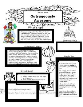 EDITABLE October Newsletter