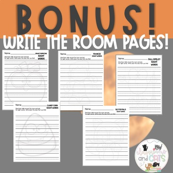 EDITABLE October sight word cards for games and Write the Room Kit!