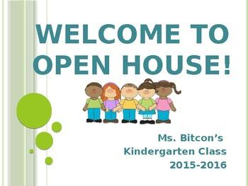 EDITABLE Open House/Meet the Teacher Power Point with cute graphics