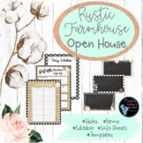 EDITABLE Open House Rustic Farm House Theme