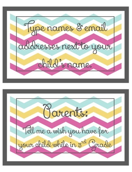 EDITABLE Open House classroom tour signs