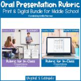 EDITABLE Oral Presentation Rubric Print & Google Slides™ B