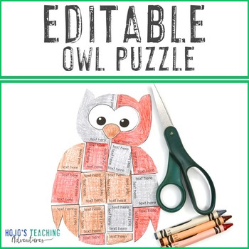 EDITABLE Owl Halloween Activity | Make your own Math, Literacy, Science, & MORE!