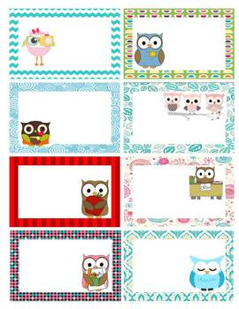 EDITABLE Owl Themed Student Rewards Cards (24 count) - Classroom Management!