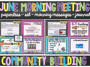 EDITABLE PAPERLESS June Community Building Morning Meetings