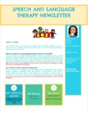 EDITABLE PARENT NEWSLETTER FROM THE SLP-ENGLISH VERSION