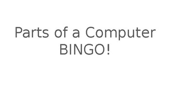 EDITABLE PARTS OF A COMPUTER BINGO GAME!