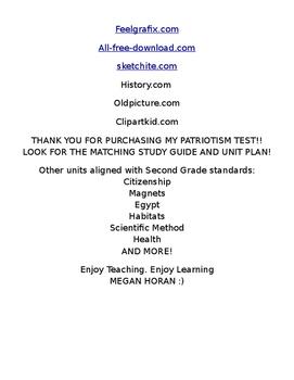 EDITABLE PATRIOTISM or CITIZENSHIP Test Assesment SOL ALIGNED
