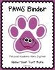 EDITABLE PAWS Binder {Student Organization Folder}