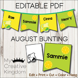 EDITABLE PDF August Bunting