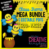 EDITABLE PDF Bee Theme Mega Bundle