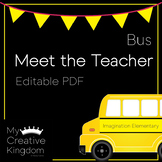 EDITABLE PDF Bus Meet the Teacher Template