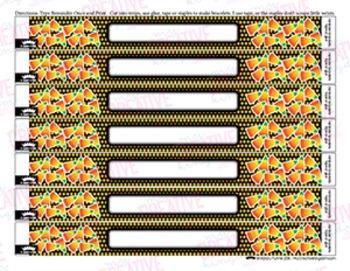 EDITABLE PDF Candy Corn Reminder Bracelets