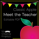 EDITABLE PDF Classic Apple Meet the Teacher Template