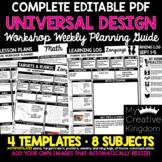 EDITABLE PDF Complete Universal Design Learning (UDL) Week