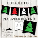 EDITABLE PDF December Bunting