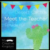 EDITABLE PDF Desert Cactus Meet the Teacher Template