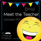 EDITABLE PDF Emoji Meet the Teacher Template