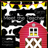 EDITABLE PDF Farm Meet the Teacher Template