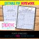 EDITABLE PDF Homework Templates