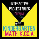 EDITABLE PDF Interactive Projectables - KCCA Kindergarten Math