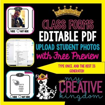 EDITABLE PDF Interactive Teacher Forms