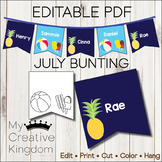 EDITABLE PDF July Bunting