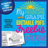 EDITABLE PDF K-1 Graph Book - Morning Workbook Series