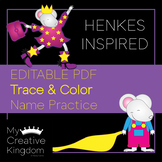EDITABLE PDF Kevin Henkes Inspired Trace and Color Name Pr
