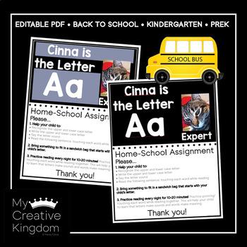 EDITABLE PDF Letter Expert Home-School Connection